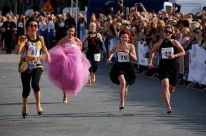 runningin heels