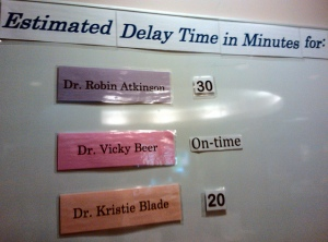 waiting for doctor