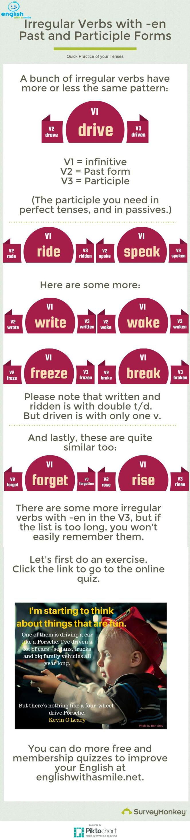 irregular verbs with en
