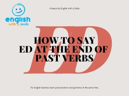 How to say ed