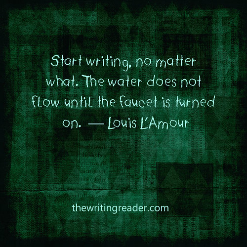 Writing faucet quote L'Amour